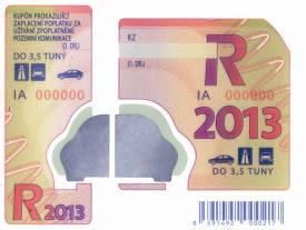 Cena diaľničných známok v zahraničí – Česká republika 2013