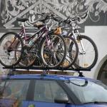 Bicykle na streche a spotreba auta