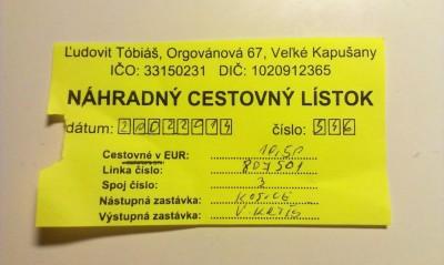 cestovný lístok